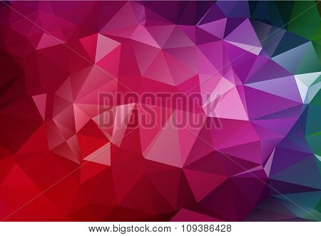 Vector Geometrical Polygon Abstract Purple Background