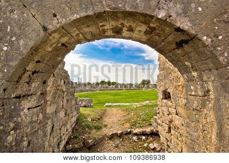 Solin Ancient Arena Old Ruins