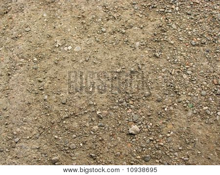 Ground with small pebbles
