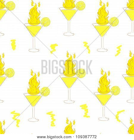 Seamless fiery cocktails