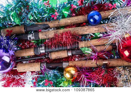 Christmas Frame For Fishers And Anglers