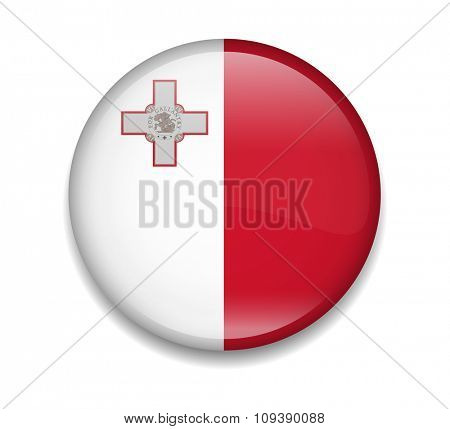 Malta Button Flag