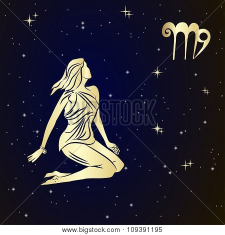 Zodiac Virgo is the starry sky
