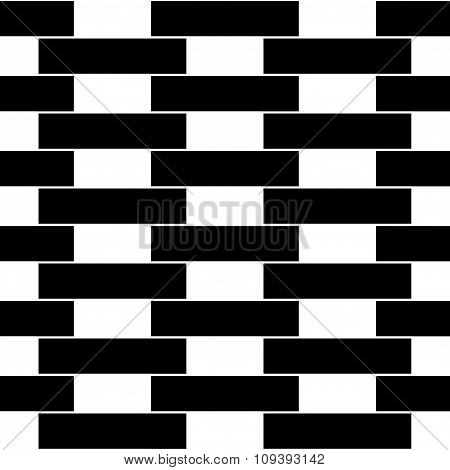 Vector modern seamless geometry pattern brick wall black and white abstract