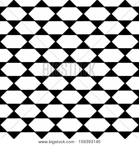 Vector modern seamless geometry pattern black and white abstract