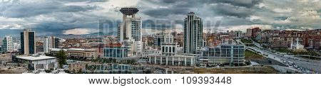 Panoramic view of Ankara city,Turkey