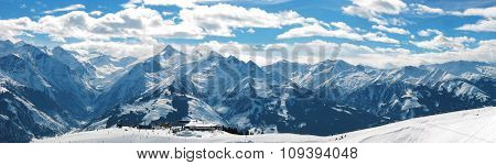 Panorama Of The European Alps Austria