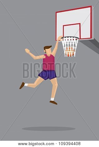 Slam Dunk Vector Cartoon Illustration