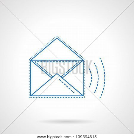 E-mail blue flat line vector icon