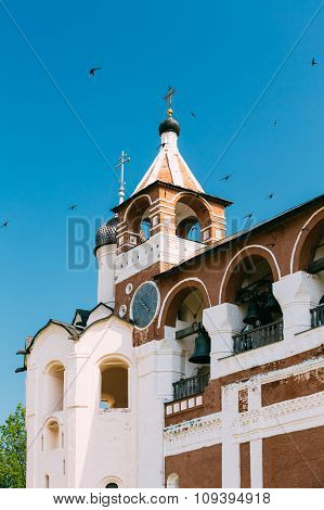 Belfry in Monastery of Saint Euthymius in Suzdal, Russia