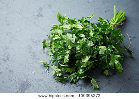 Bunch of fresh organic parsley