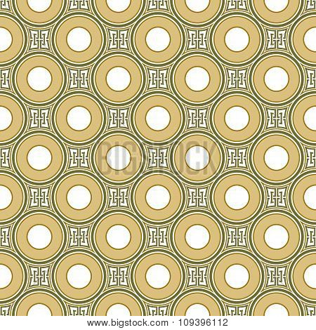 Seamless background image of vintage round geometry shape pattern.