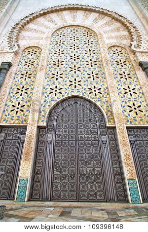 Historical In  Antique Building  Morocco Style Africa   Wood And