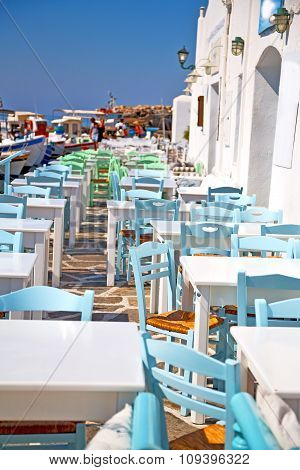 Table In Santorini   And The Summer
