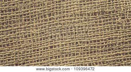 Retro Toned High Quality Close Up Picture Of Jute.