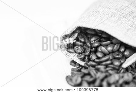 Coffee Beans Sack In Monochromatic Colors