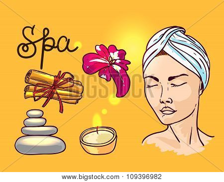 vector illustration spa