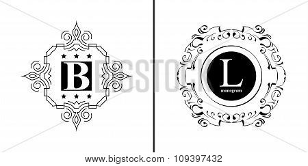 Elegant monogram design template.