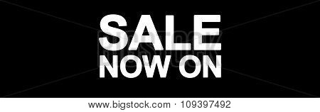 Sale web banner sale now on