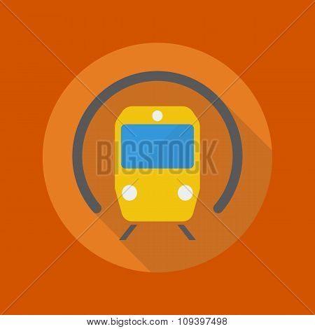 Transportation Flat Icon. Subway