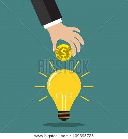 concept for crowdfunding, investing into ideas