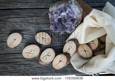 Wooden Runes Handmade