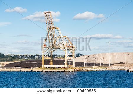 Coal And Gravel By Crane