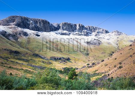 Snow Tipped Amatola Mountains In Eastern Cape South Africa