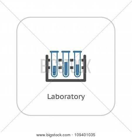 Laboratory Icon. Flat Design.