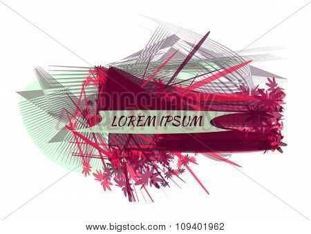 Place For Name. Abstract Vector Magenta Background