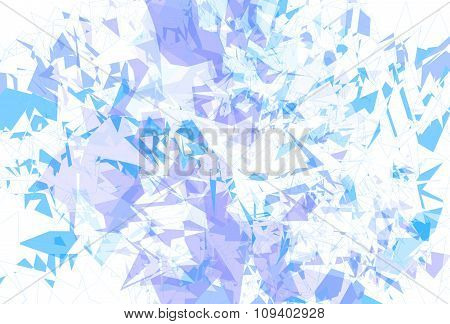 Detailed Background Ice Fragments Texture