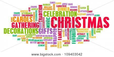 Christmas Greeting Background Concept Art as Abstract