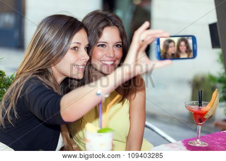 Selfie, girls taking a photo of themselves