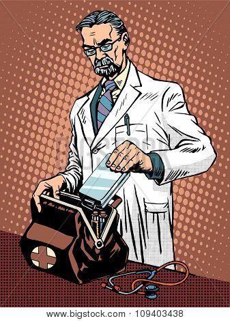 Retro doctor ambulance
