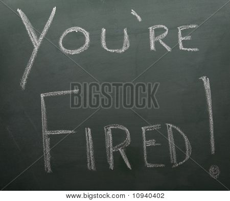 You're Fired On Blackboard