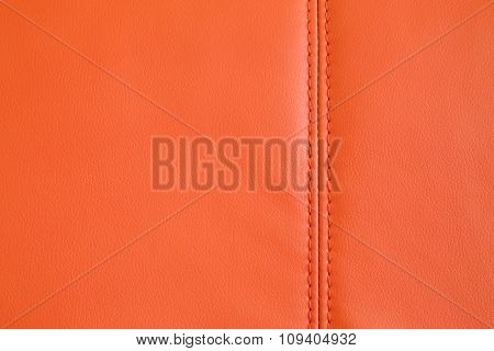 Background Texture Of Orange Artificial Leather