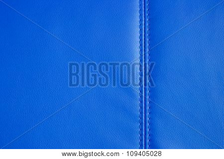 Background Texture Of Blue Artificial Leather