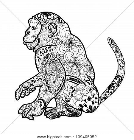 Monkey Vector Illustration