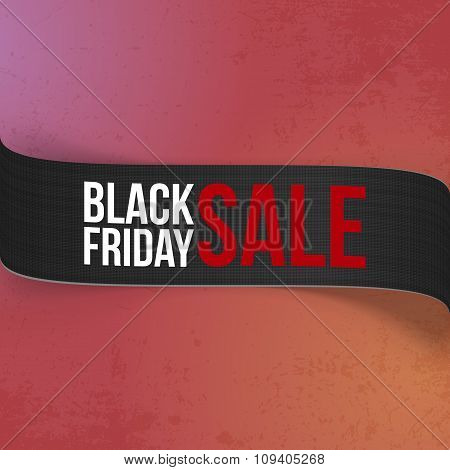 Black Friday Sale promo Ribbon for Your Design