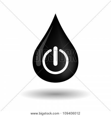 Vector Oil Drop Icon With An Off Button