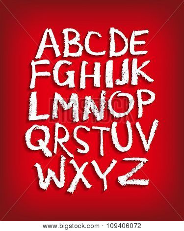 Vector alphabet. Hand drawn letters. Letters of the alphabet written