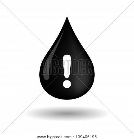 Vector Oil Drop Icon With An Admiration Sign