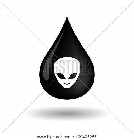 Vector Oil Drop Icon With An Alien Face