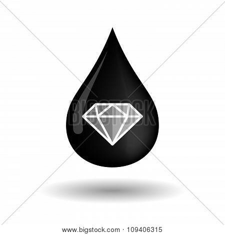 Vector Oil Drop Icon With A Diamond