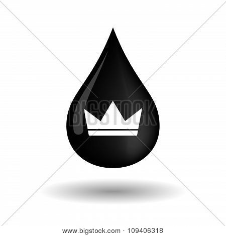 Vector Oil Drop Icon With A Crown