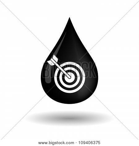 Vector Oil Drop Icon With A Dart Board