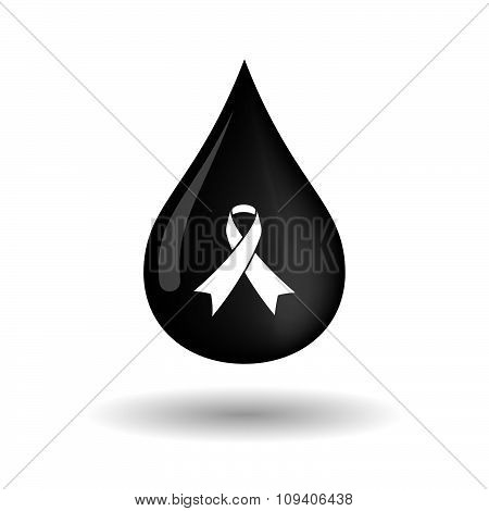 Vector Oil Drop Icon With An Awareness Ribbon