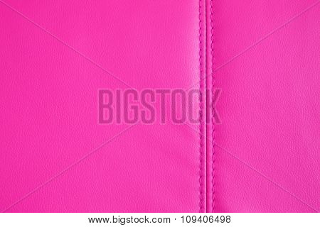 Background Texture Of Pink Artificial Leather