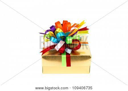 Gold gift box