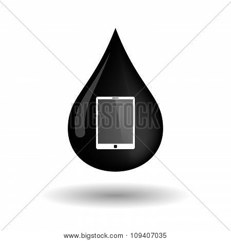 Vector Oil Drop Icon With A Tablet Computer